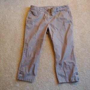 Ann Taylor LOFT original crop grey pants